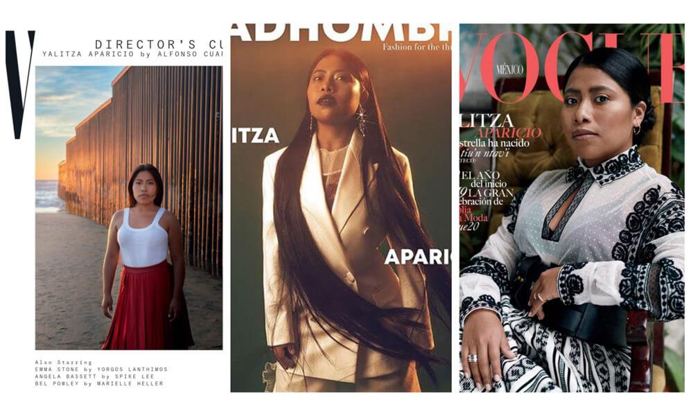 Yalitza Aparicio en diversas publicaciones de renombre