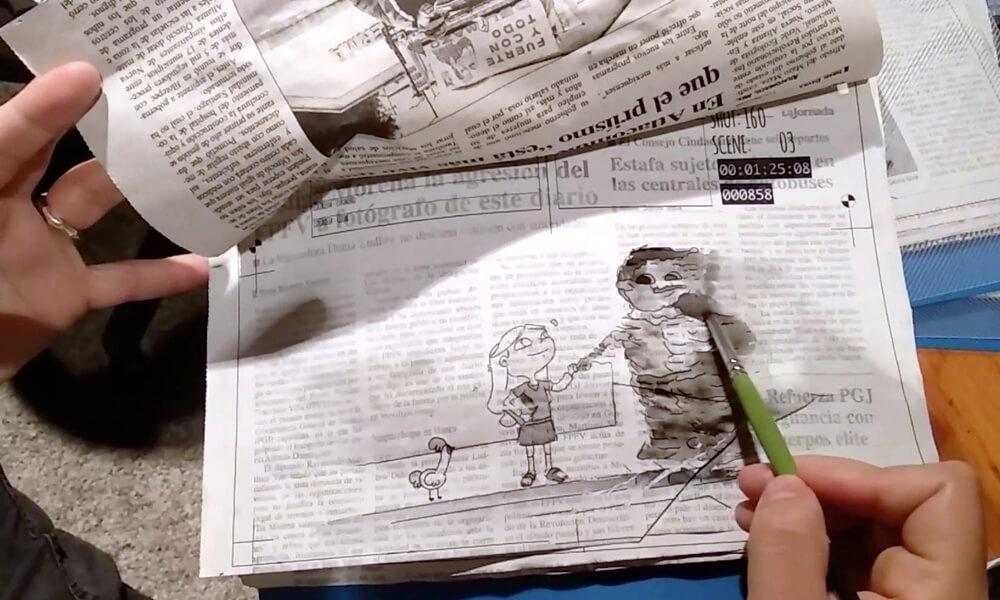 Dalia Sigue Aquí es un cortometraje animado que se realizó sobre gran cantidad de periódicos
